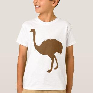 a59f38362bf8f Ostrich Ostriches Struthio Bird Birds Africa Art T-Shirt