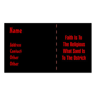 Ostrich Religion Pack Of Standard Business Cards