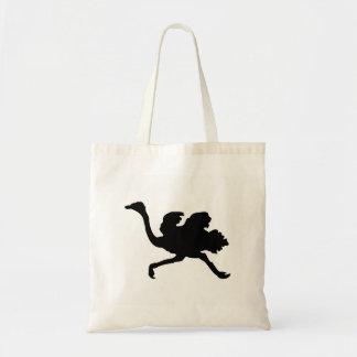 Ostrich Silhouette Tote Bag
