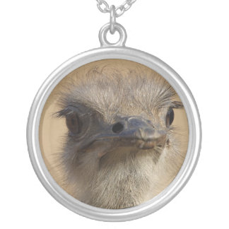 ostrich silver plated necklace