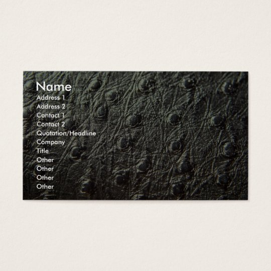 Ostrich Skin Leather Business Card