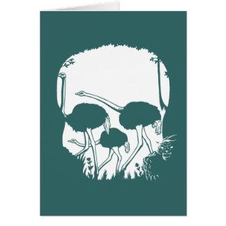 Ostrich Skull Illusion Card