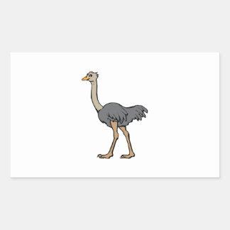Ostrich Rectangular Sticker