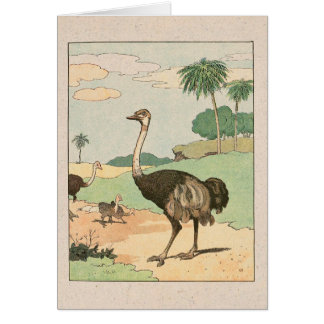 Ostrich Story Book Illustrated Card