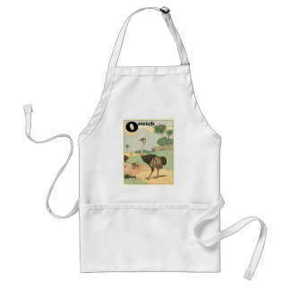 Ostrich Storybook Drawing Aprons