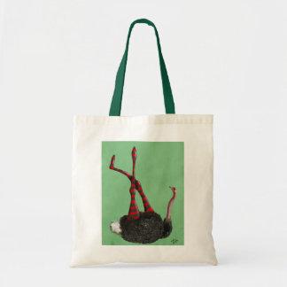 Ostrich Striped Leggings Tote Bag