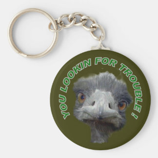 Ostrich trouble key ring