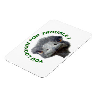Ostrich trouble rectangular photo magnet