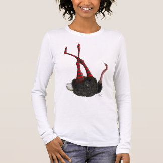 Ostrich with Striped Leggings Long Sleeve T-Shirt