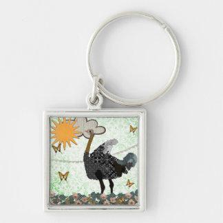 Ostrich You Are My Sunshine  Keychain
