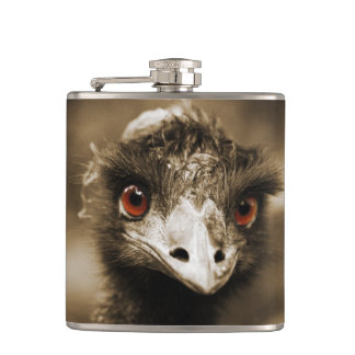 Ostriches Look custom flask