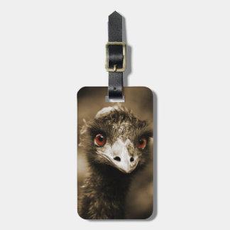 Ostriches Look custom luggage tag