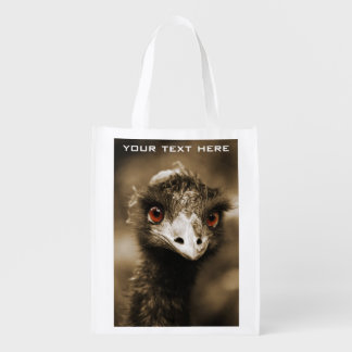 Ostriches Look custom reusable bag
