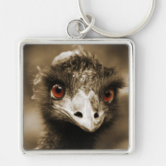 Ostriches Look key chain