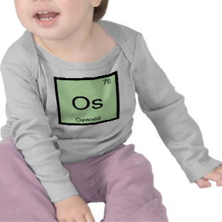 Oswald Name Chemistry Element Periodic Table Tshirts