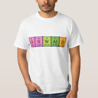 Oswald periodic table name shirt