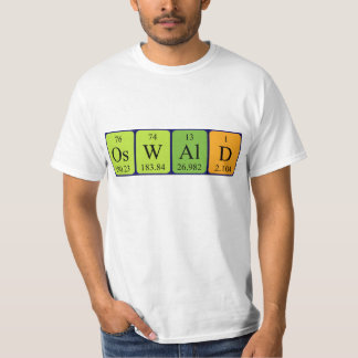 Oswald periodic table name shirt