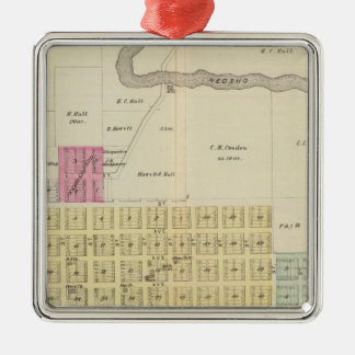 Oswego, Neosho Falls, Havens, and Butler, Kansas Christmas Ornament