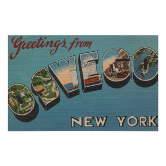 Oswego New York - Large Letter Scenes Posters