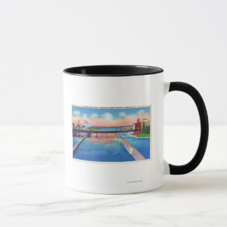 Oswego River View of Canal Locks & Harbor Mug