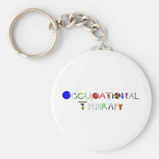 OT at Work Basic Round Button Key Ring