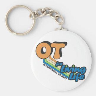 OT for Living Life Basic Round Button Key Ring