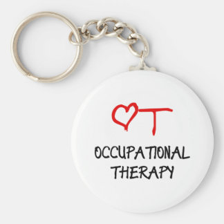 OT Heart Basic Round Button Key Ring