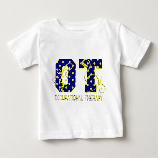 ot letters blue and yellow baby T-Shirt