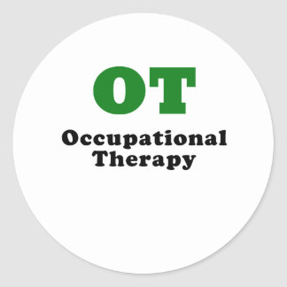 OT Occupational Therapy Classic Round Sticker