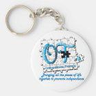 ot puzzle aqua key ring