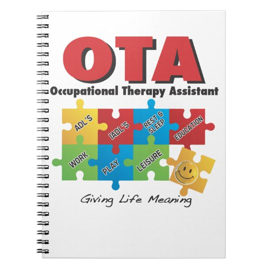 OTA - Occupational Therapy Assistant Notebook-COTA Spiral Notebook