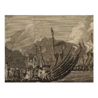 Otaheite Fleet, Tahiti Postcard