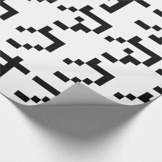 OTAKU 8 Bit Pixel Japanese Katakana Vertical Wrapping Paper