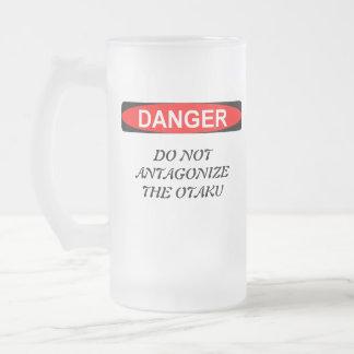 Otaku Anime Lovers Frosted Glass Beer Mug