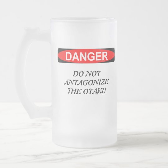 Otaku Anime Lovers Frosted Glass Beer Mug