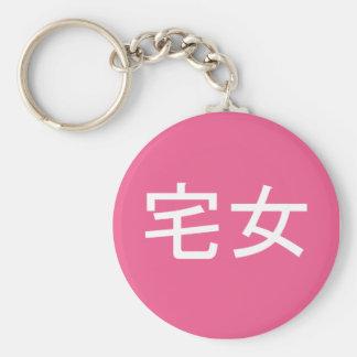 Otaku Female Key Chain Pink