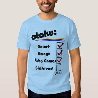 Otaku (male version - female availible) t-shirts