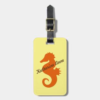 Otange Seahorse Custom Luggage Tag
