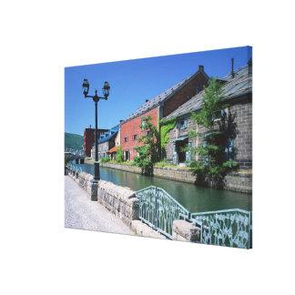Otaru Canal 2 Stretched Canvas Print