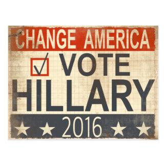 ote Hillary Clinton 2016 Election Postcard