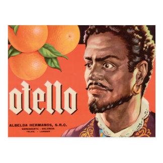 Otello Orange Label Postcard