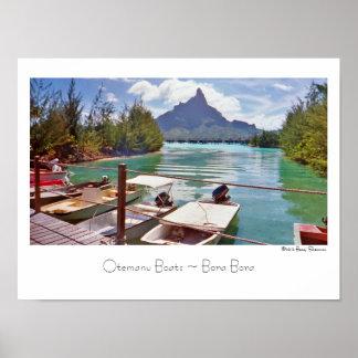 Otemanu Boats ~ Travel Poster