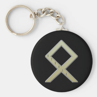 Othala Rune gold Key Ring