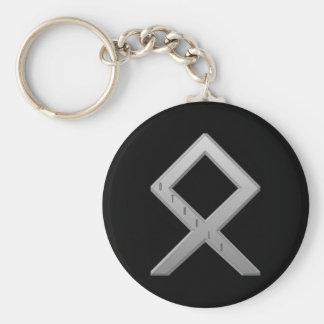 Othala Rune grey Basic Round Button Key Ring
