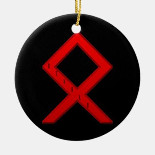 Othala Rune red Ornaments