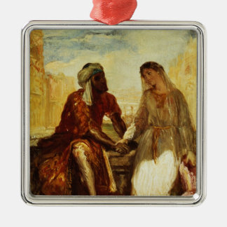 Othello and Desdemona in Venice, 1850 Christmas Ornament