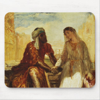 Othello and Desdemona in Venice, 1850 Mouse Mat