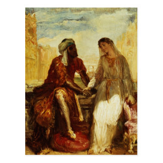 Othello and Desdemona in Venice, 1850 Postcard