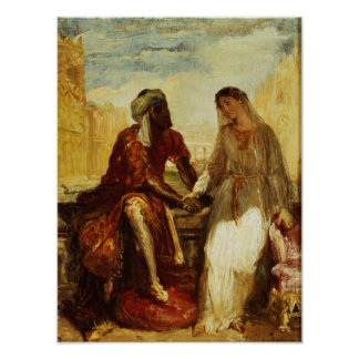 Othello and Desdemona in Venice, 1850 Poster