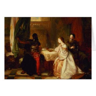 Othello Relating His Adventures to Desdemona Card